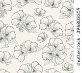 seamless pattern flowers on a... | Shutterstock .eps vector #396803359