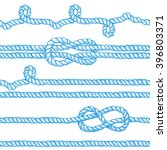 engraved ropes and knots in... | Shutterstock .eps vector #396803371