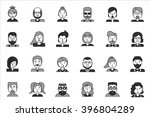 line icons set with flat design ... | Shutterstock .eps vector #396804289