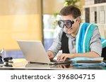 businessman working on line or... | Shutterstock . vector #396804715
