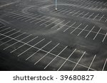 Aerial View Of An Empty Parkin...