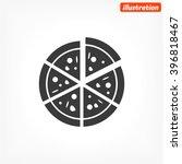 pizza vector icon | Shutterstock .eps vector #396818467