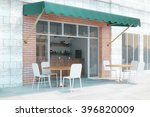 Small Cafe With Brick Walls An...