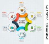 vector infographic design... | Shutterstock .eps vector #396821491