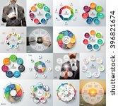 big set of vector heptagons ... | Shutterstock .eps vector #396821674