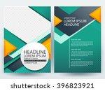 abstract vector modern flyers...   Shutterstock .eps vector #396823921