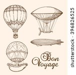 set of vintage vector hand... | Shutterstock .eps vector #396826525
