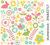happy easter  spring background   Shutterstock .eps vector #396832717