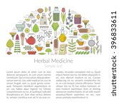 herbal medicine  vector... | Shutterstock .eps vector #396833611