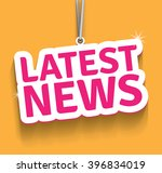 latest news. | Shutterstock .eps vector #396834019