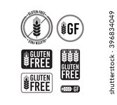 collection gluten free seals.... | Shutterstock .eps vector #396834049