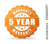 5 years warranty icon isolated... | Shutterstock .eps vector #396840097