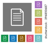 document flat icon set on color ... | Shutterstock .eps vector #396850687