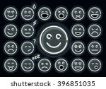 neon emotions set. set of... | Shutterstock .eps vector #396851035