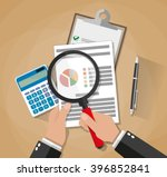 cartoon businessman hands with... | Shutterstock .eps vector #396852841
