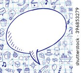 Doodle Speech Bubble With...