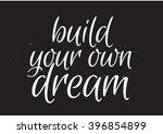 build your own dream romantic... | Shutterstock .eps vector #396854899
