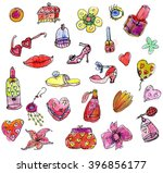 girl items | Shutterstock . vector #396856177