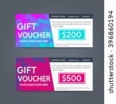 gift voucher template with... | Shutterstock .eps vector #396860194