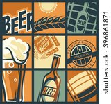 beer menu concept comic style.... | Shutterstock .eps vector #396861871