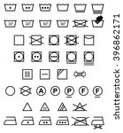 laundry icons   illustration.... | Shutterstock .eps vector #396862171