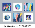 collection of creative cards... | Shutterstock .eps vector #396867505