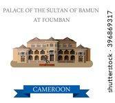 palace sultan bamun in foumban...   Shutterstock .eps vector #396869317