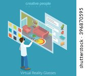 virtual reality vr glass... | Shutterstock .eps vector #396870595