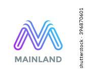 letter m logo design vector... | Shutterstock .eps vector #396870601