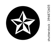 nautical star icon in circle .... | Shutterstock .eps vector #396872605