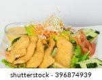 crispy chicken salad with mango ...