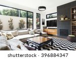 monochrome living room with... | Shutterstock . vector #396884347