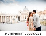 loving couple at the st. peter... | Shutterstock . vector #396887281