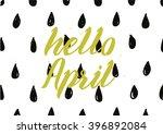 hello april inscription.... | Shutterstock .eps vector #396892084