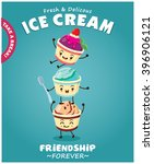 vintage ice cream poster design ... | Shutterstock .eps vector #396906121