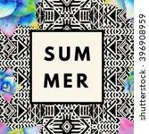 summer hipster boho chic... | Shutterstock .eps vector #396908959