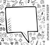vector hand drawn bubble speech ... | Shutterstock .eps vector #396910009