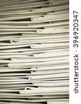 stack of business report paper... | Shutterstock . vector #396920347