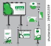 vector outdoor advertising...   Shutterstock .eps vector #396921559
