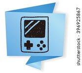 handheld game doodle drawing | Shutterstock . vector #396925867