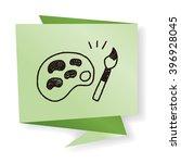 doodle palette brush   Shutterstock . vector #396928045