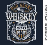 vintage americana whiskey label ... | Shutterstock .eps vector #396931531