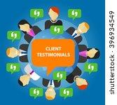 client testimonials consumer...   Shutterstock .eps vector #396934549