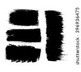 set of 4 grunge black abstract... | Shutterstock .eps vector #396936475