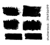 set of 6 square grunge black... | Shutterstock .eps vector #396936499