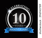 celebrating 10 years... | Shutterstock .eps vector #396943789