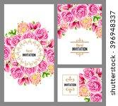 vintage delicate invitation... | Shutterstock .eps vector #396948337