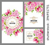 invitation with floral... | Shutterstock .eps vector #396951751