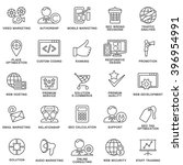 modern seo contour icons for... | Shutterstock .eps vector #396954991