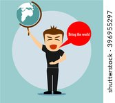 boys cartoon character bring... | Shutterstock .eps vector #396955297